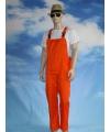 Carnavalskleding oranje tuinbroek voor volwassenen