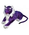 Grote tijger knuffel paars