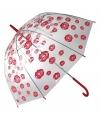 Transparante paraplu met kusjes