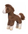 Pluche Appaloosa paard knuffel donkerbruin 20 cm