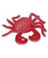 Rode krab knuffeldier 30 cm