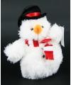 Pluche sneeuwman knuffeltje 14 cm