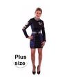 Formule 1 dames jurk zwart/blauw groot