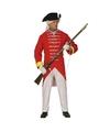 Franse soldaten kostuum rood