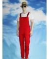 Carnavalskleding rode tuinbroek voor volwassenen