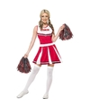 Cheerleader verkleedkleding rood