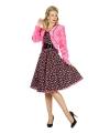 Roze jaren 50 bontjasje voor dames