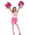Roze cheerleaders verkleedkleding kids