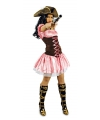Carnavals piratenjurk roze