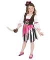 Roze piraten jurk verkleedkleding