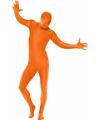 Second skin kostuum oranje