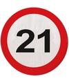 21 Jaar verkeersborden servetten