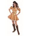 Vrouwelijke piraten jurk goud