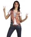 T-shirt met hippie opdruk
