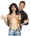 T-shirt met naakte vrouw opdruk