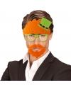Saint Patricks Day party bril met snor en sik