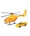 Reddings helikopter en auto speelset geel
