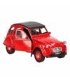 Speelgoed rode Citroen 2CV auto 1:36