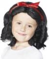 Zwarte krullen pruik voor kinderen