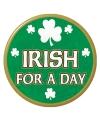 Groene St Patricks Day button verkleedaccessoire