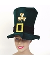 Groene fluwelen St. Patricks day hoed
