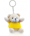 Knuffelbeer sleutelhanger geel