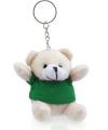 Knuffelbeer sleutelhanger groen