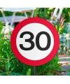 Tuin verkeersbord 30 jaar