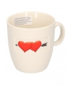 Koffie kopje met hartjes