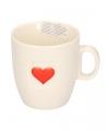 Koffie kopje met hartje