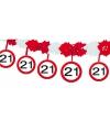 21 jaar verkeersborden slinger