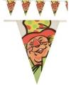Vlaggenlijn slingers clown