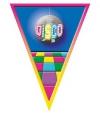 Disco vlag lijn 5 meter