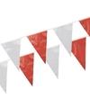 Plastic vlaggenlijnen rood/wit