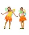 Geel met oranje vlinder jurkje voor meisjes