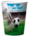 Plastic bekertjes met voetbal thema