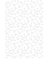 Tapijt loper wit met zilveren hartjes 4,5 x 60 cm