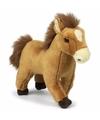Knuffel paard bruin 23 cm
