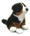 Pluche Berner Sennen hond zittend 27 cm