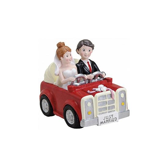Bruiloft cadeau spaarpot auto 15 cm Cadeau