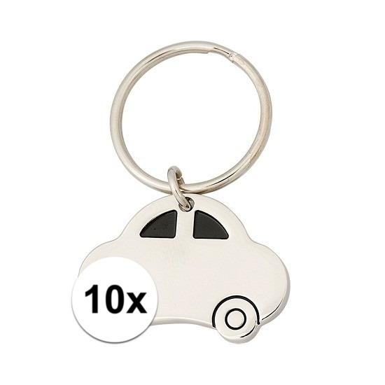 10x Nieuwe auto cadeau sleutelhanger Cadeau /feestartikelen/jub-geslaagd-familie/rijbewijs