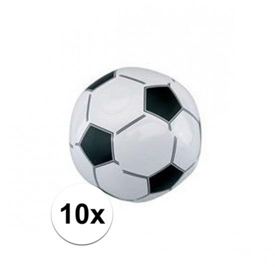 10x Opblaasbare voetballen strandbal