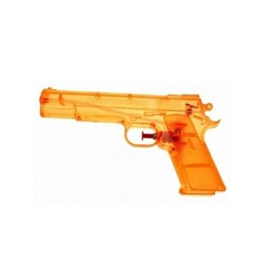 15x Transparante waterpistolen oranje