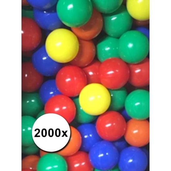 2000 stuks ballen voor in ballenbak kleurenmix
