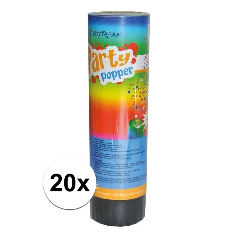 20x Party popper 15 cm