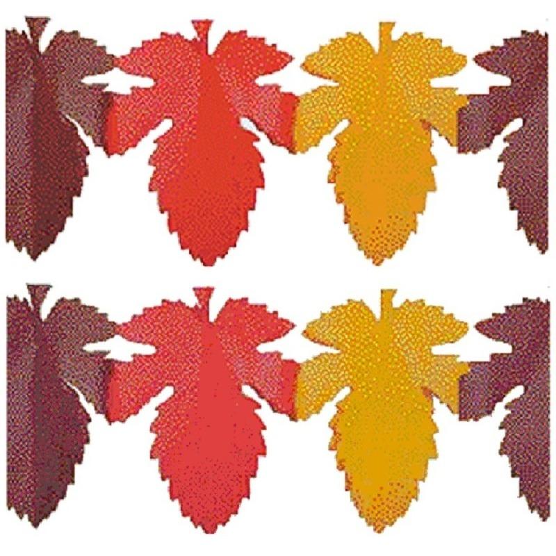 2x Brandvertragende herfstblad slinger