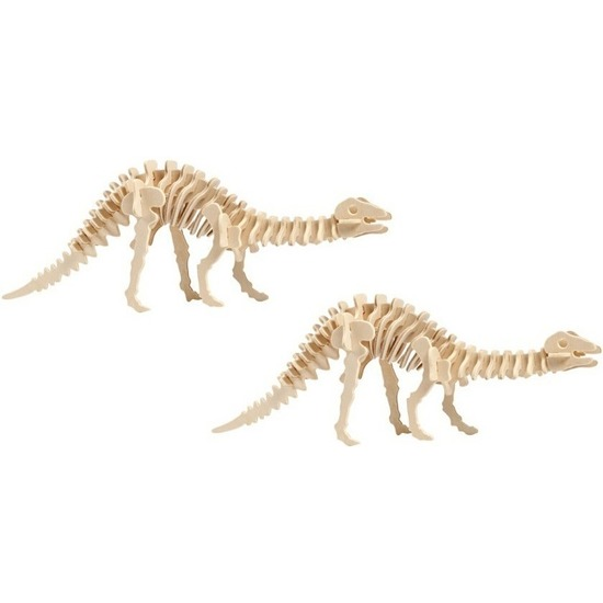 2x Houten Apatosaurus bouwpakket