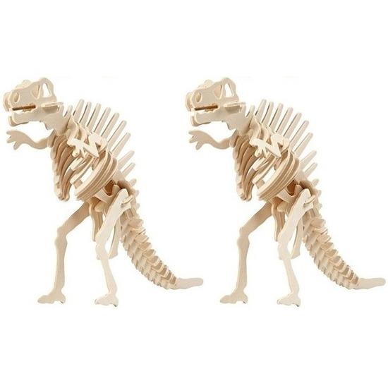 2x Houten Spinosaurus bouwpakket