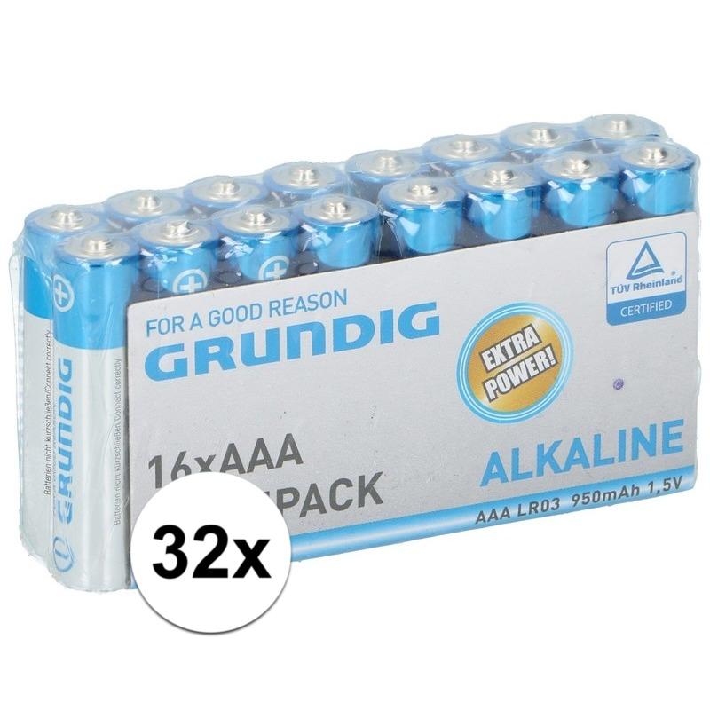 32x Grundig AAA batterijen alkaline