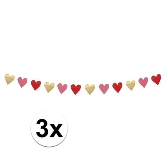 3x Valentijn slingers 2 meter